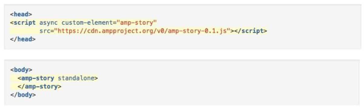 code AMP Stories
